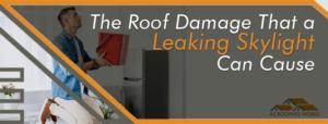 Leaking Skylight Roof Damage