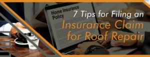 Filing a Roof Repair Insurance Claim