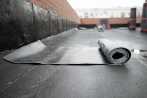 water ponding on flat roof
